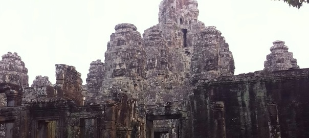 Face Towers At Angkor Thom
