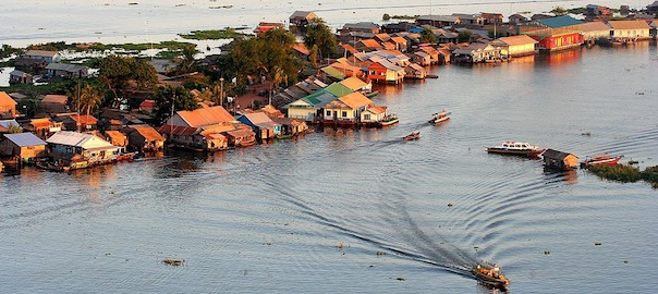Houses On The Water Tonle Sap Lake