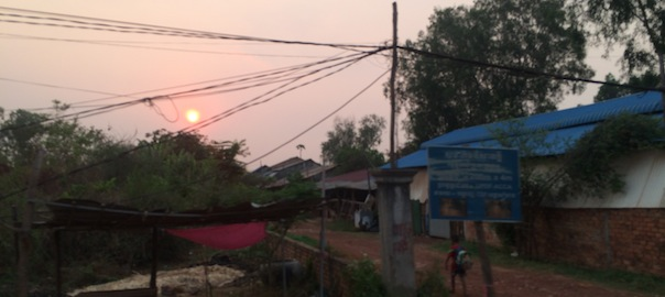 Street View Sunset Cambodia