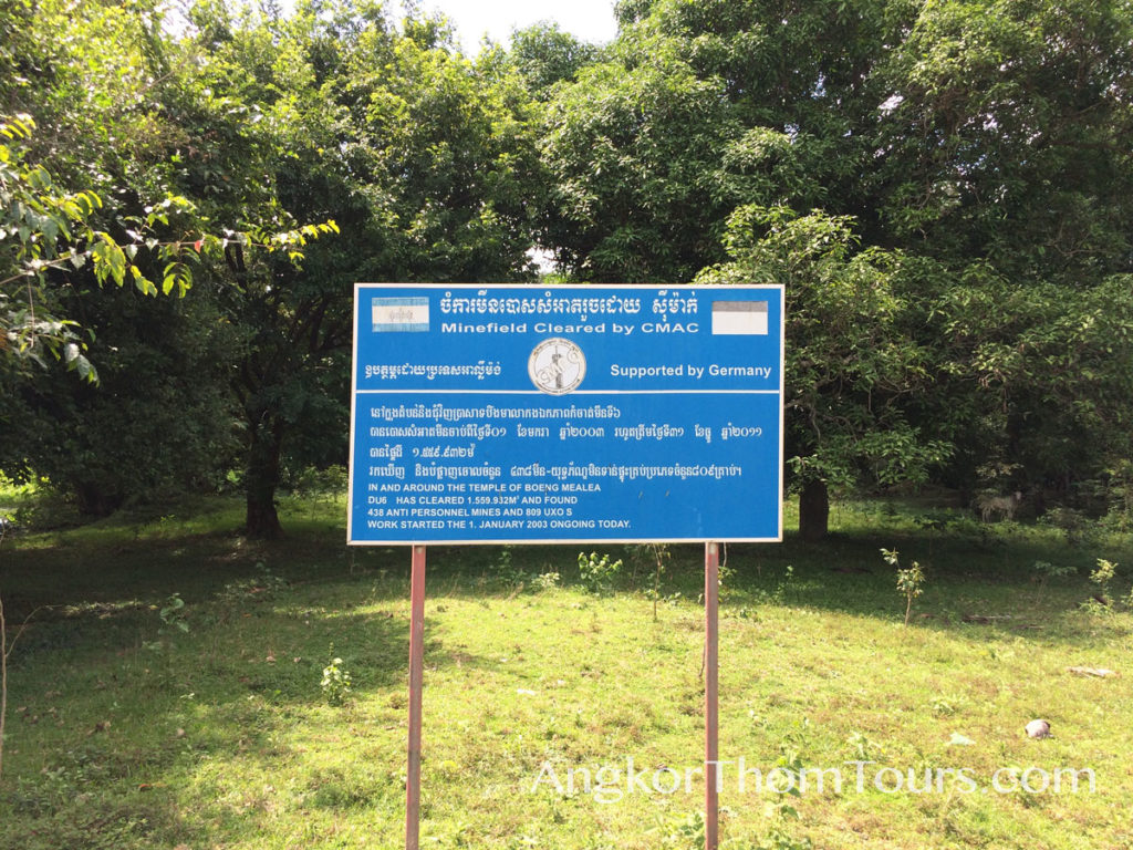 CMAC Cleared Minefield Sign Beng Mealea