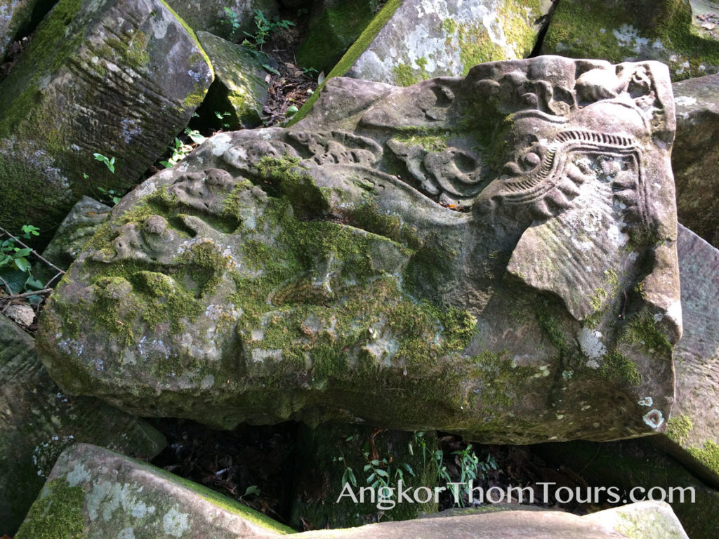 Dragon Head Carving In Beng Mealea Ruins