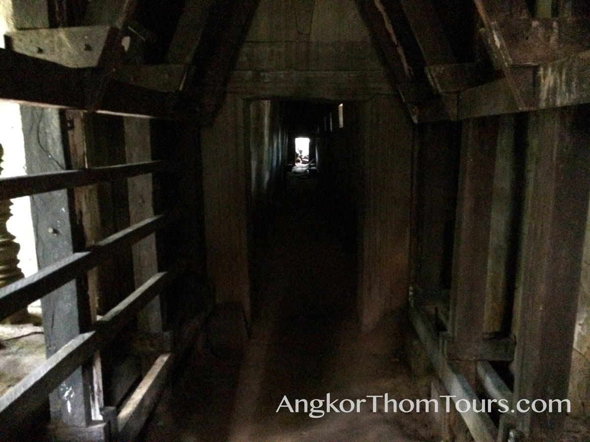 Long Dark Hidden Tunnel Through Beng Mealea