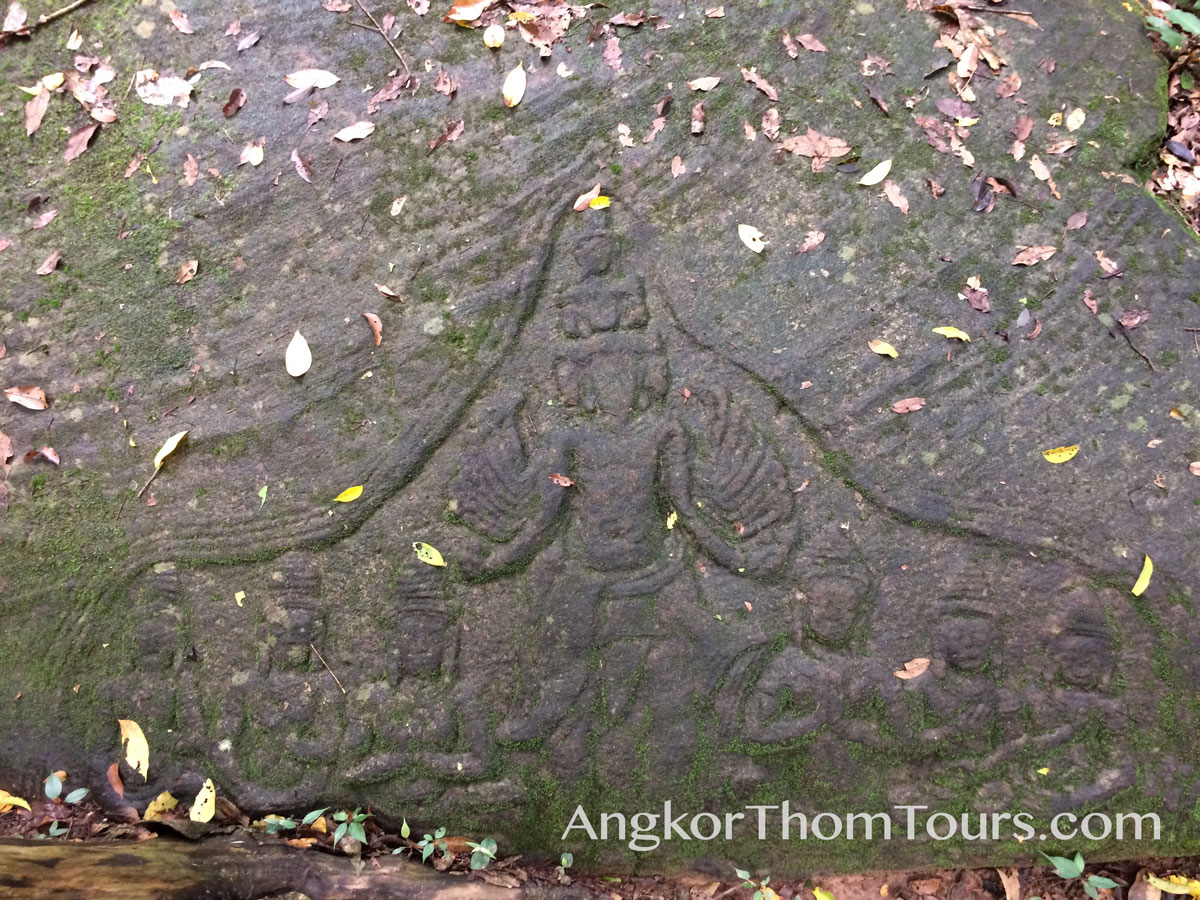 Shiva Carving In Large Stone Floor Kbal Spean