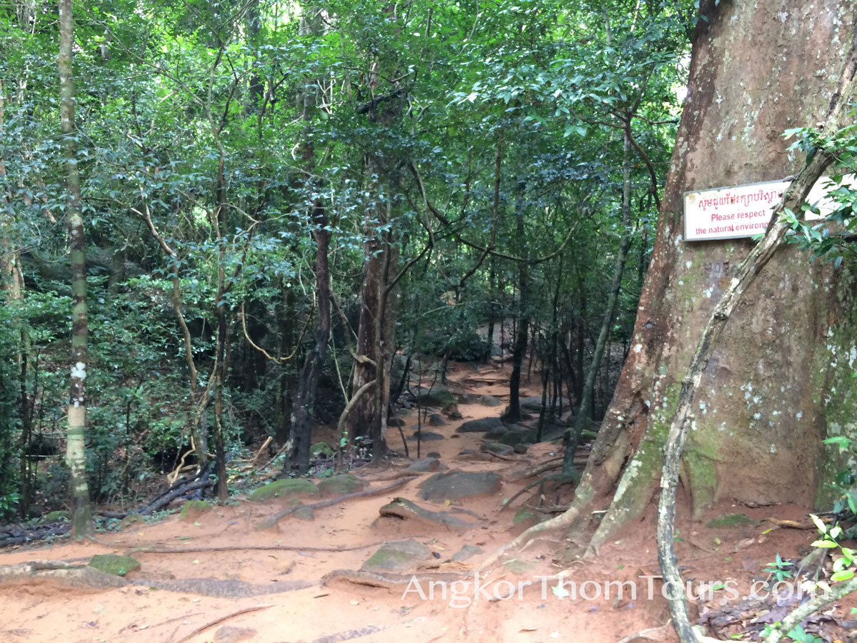 Sign Showing Be Respectful Of Nature At Kbal Spean